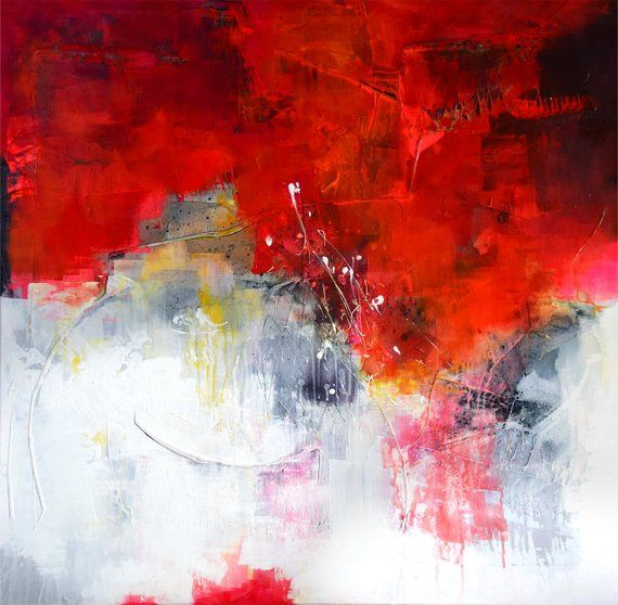 Extra large abstract painting, original handpainted