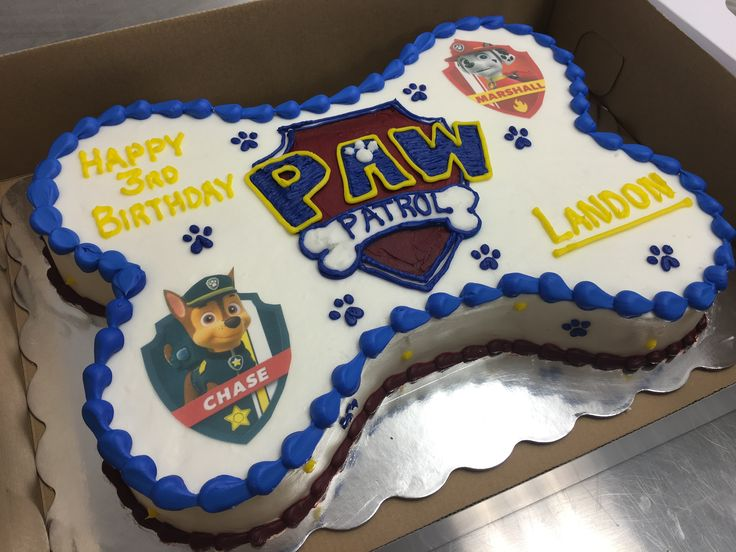 Paw Patrol Sheet Cake For A Sweet Child Birthday
