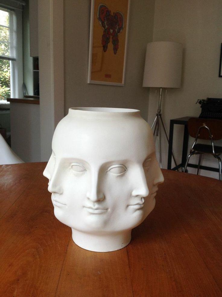 Face Vase/planter White