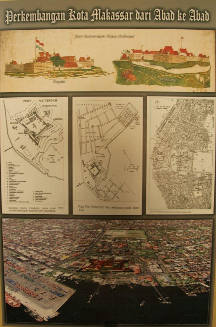 Plattegrond Fort Rotterdam in de Koloniale tijd, Makassar