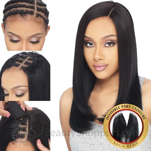 weave closure | ... Way Saga 100% Remy/Remi Human Hair Piece - INVISIBLE PART CLOSURE 10