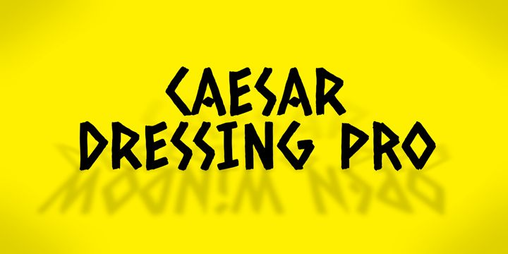 Caesar Dressing Pro™ - Webfont & Desktop font « MyFonts