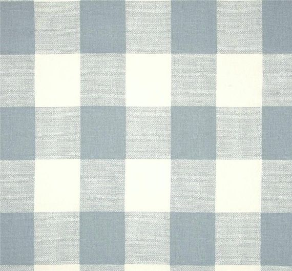 Swedish Check Chambray Blue Designer Plaid Fabric by the Yard Drapery or Upholstery Fabric Blue & White Cotton Plaid Fabric B214