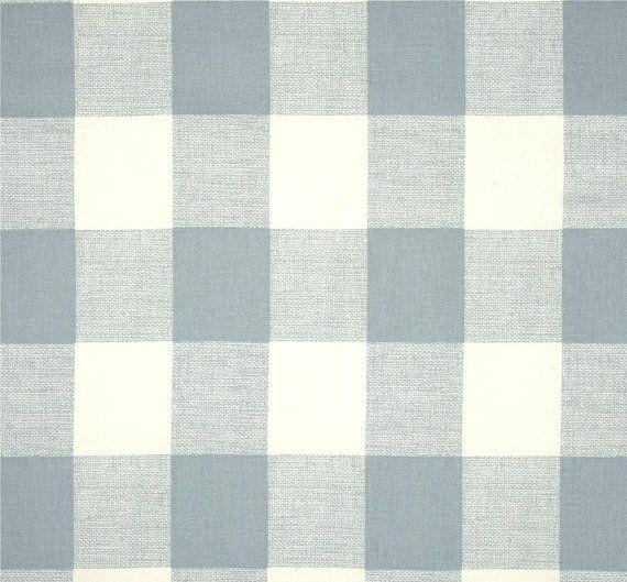 Buffalo Check Chambray Denim Blue Designer Plaid by CottonCircle