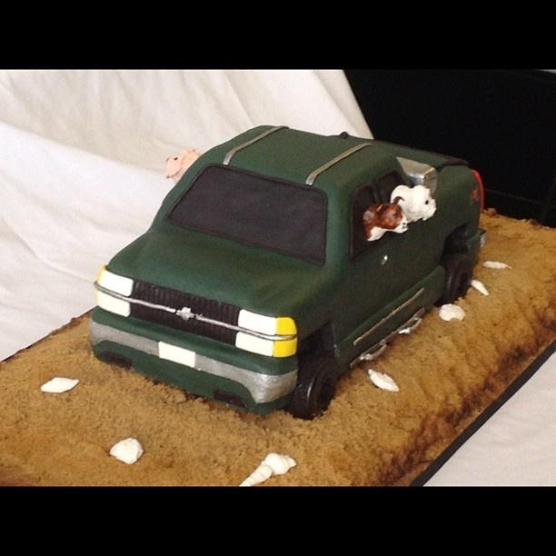 Silver Corvette Birthday Cake Image