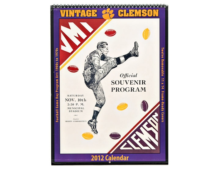 Vintage Clemson Calendar (with old Program covers) The BEST part is they are perforated so you can detach them and frame them!!  #ClemsonTigers #Clemson #Tigers #ClemsonUniversity