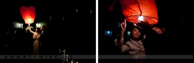 Lampiony na weselu    Fotografia ślubna Wrocław, Anna Tyniec    https://www.facebook.com/AnnaTyniecFotografie