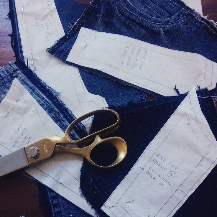 Using denim scraps from my skirts for a new project! #upcycled #ecothreads #cutting #denim