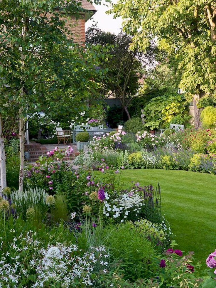 80 Beautiful Front Garden Cottage Garden Landscaping Ideas  #Cottage #Garden #Id…