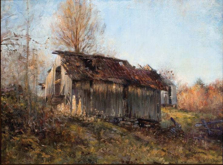 Fall, Oil on canvas by Jonny Andvik
