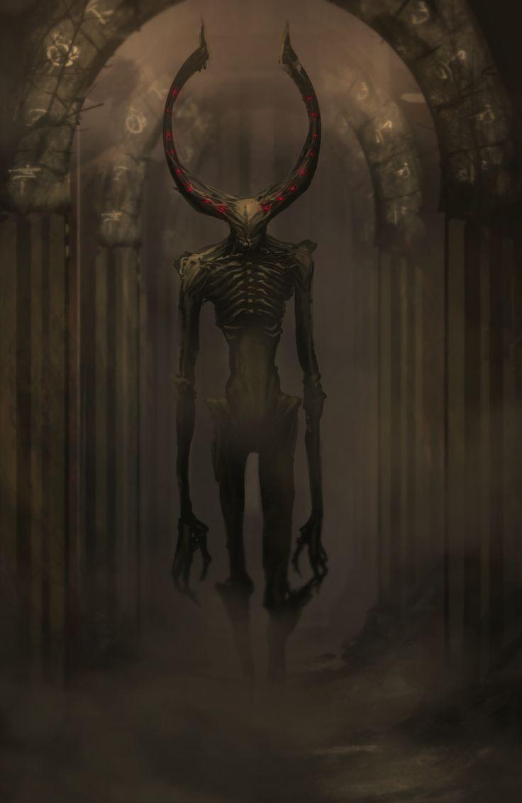 Criatura abissal: Wendigo Uma das espécies servas de Jarrin.