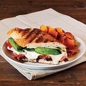Tomato, Basil, and Mozzarella Panini with Balsamic Syrup - the best summer sandwich...I just drizzle the balsamic vinegar directly onto the bread before cooking, no reduction into syrup required