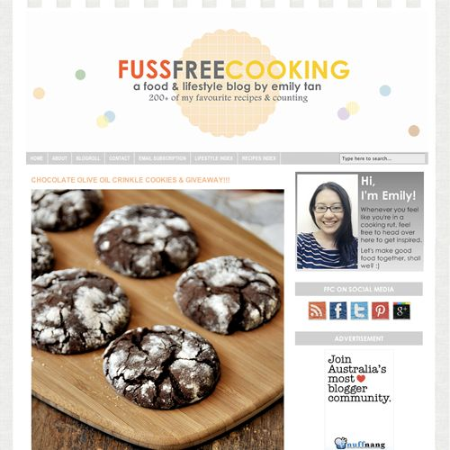 Thank you @Emily Tan | Fuss Free Cooking for the wonderful chocolate olive oil crinkle cookies recipe #cookies #baking #blogger #yum