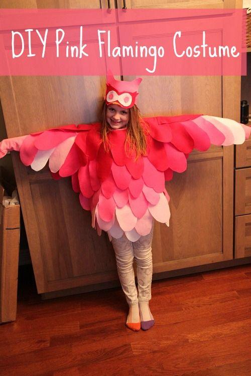 DIY Pink Flamingo Owl Costume