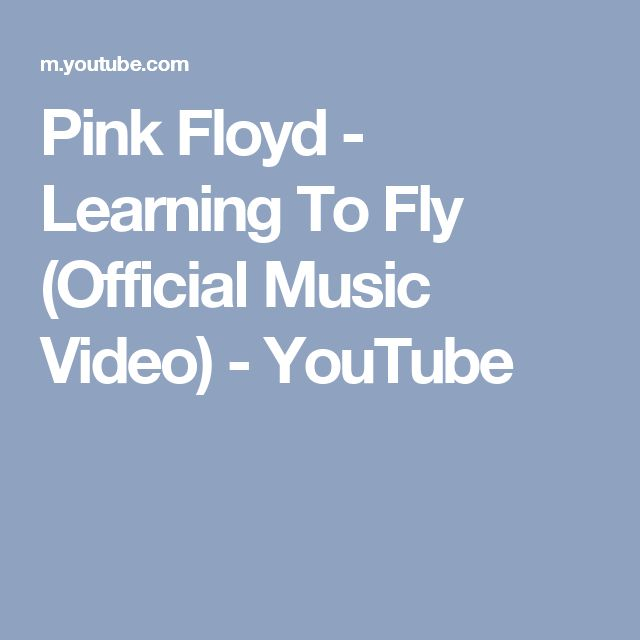 Pink Floyd - Learning To Fly (Official Music Video) - YouTube