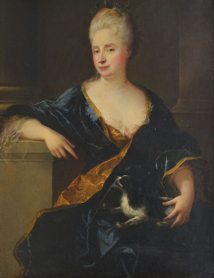 Anne-Thérèse Marguenat Courcelles, marquise de Lambert (1647-1733), woman of letters and salonniere, early 18th century attributed to Francois de Troy (1645-1730)