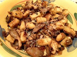 Gnocchi with Wild Mushroom Brown Butter Sage Sauce