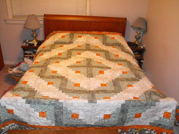 The Aftercraft: Queen Sized Log Cabin Pattern FREE!!!!