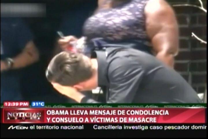 Obama Lleva Mensaje De Condolencia Y Consuelo A Víctimas De Masacre De Orlando