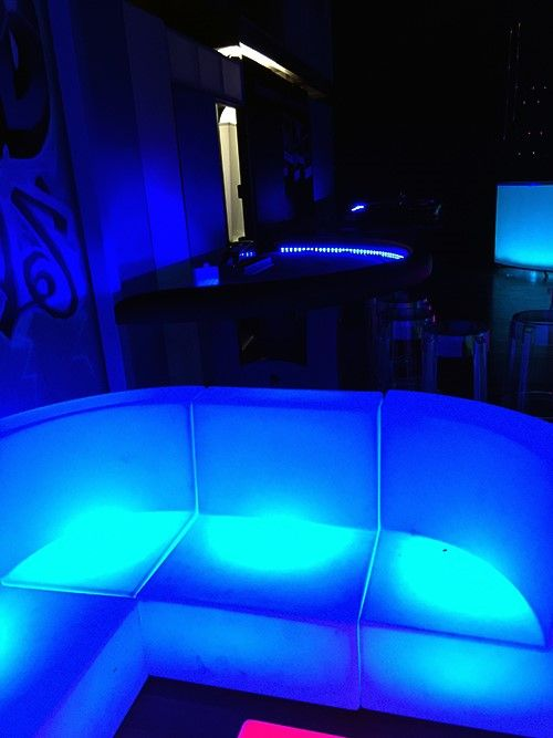 Glowing casino tables glowing furniture glow in the dark - Glow in the