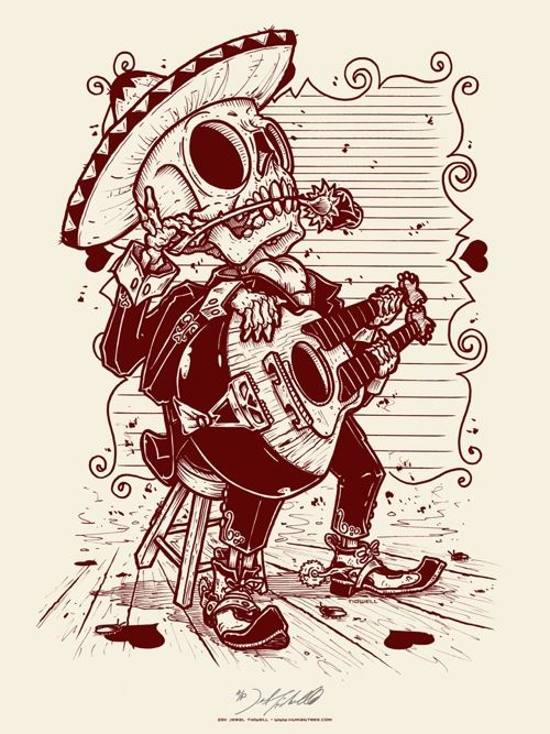 Posada style illustration- Jeral Tidwell
