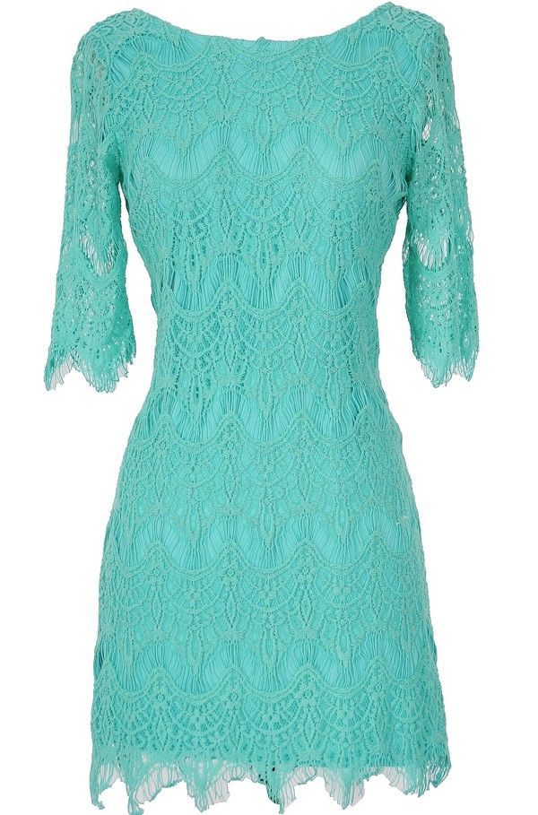 Teal Lace Western Dresses