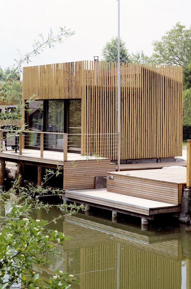 Bamboo facade