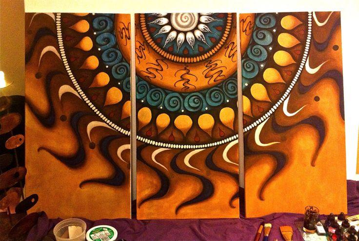 sun mandala on canvas - Google Search