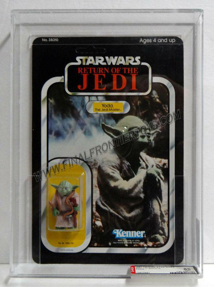 Star Wars ROTJ Yoda Brown Snake 77 A Back AFA 85 Unpunched