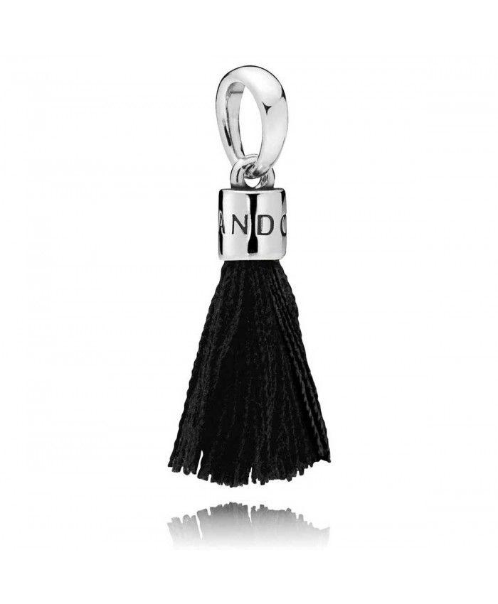 1f50ad9e5 Black Fabric Tassel Dangle Charm Pandora Sale, Pandora Charms, Black  Fabric, Black Friday