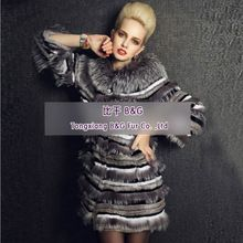 BG22958 Real Rex Rabbit Fur Clothes Women with silver fox fur trim 2013 fashion OEM Wholesale Retail Tongxiang  Best Buy follow this link http://shopingayo.space
