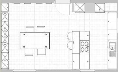 Bildergebnis für küchenplanung grundriss | Küchen | Pinterest ...
