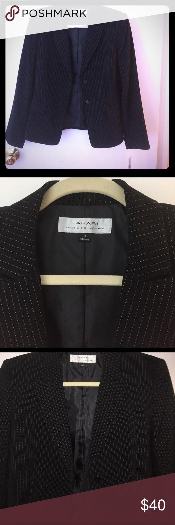 Tahari pin striped blazer Brand new with tags fitted pin stripe blazer Tahari Jackets & Coats Blazers