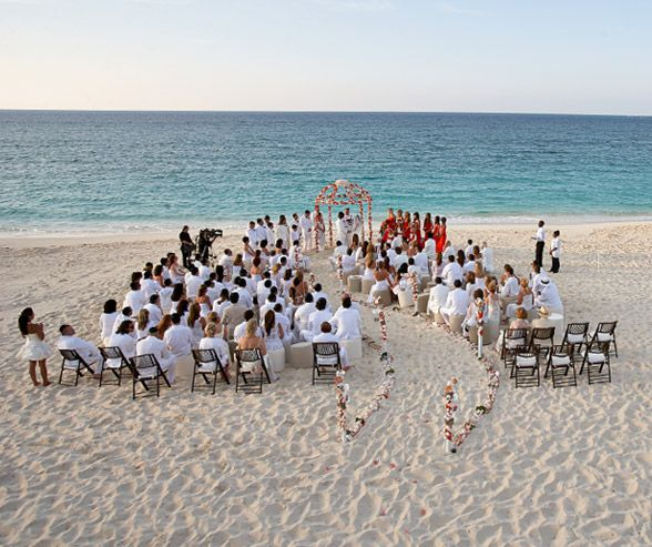 What a breathtaking view! Beautiful White & Coral Beach Wedding by Matt Blum Photography