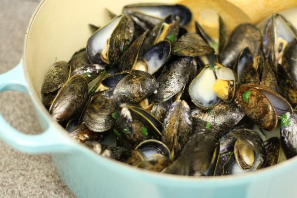 White Wine and Olive Oil Steamed Mussels | Fish and ...