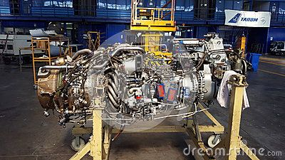ATR 72 jet engine - details components.  TAROM Technical Division