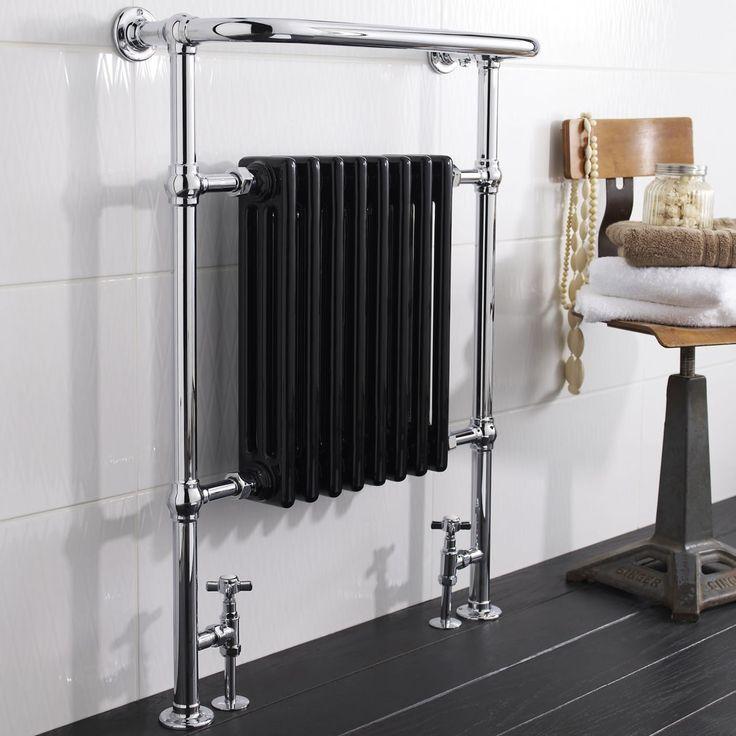 Handtuchhalter Dusche Ohne Bohren : Hudson Reed Marquis – Handtuchheizk?rper in Chrom und Schwarz mit