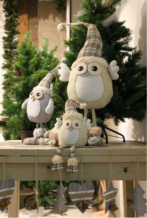Corujinhas de natal…