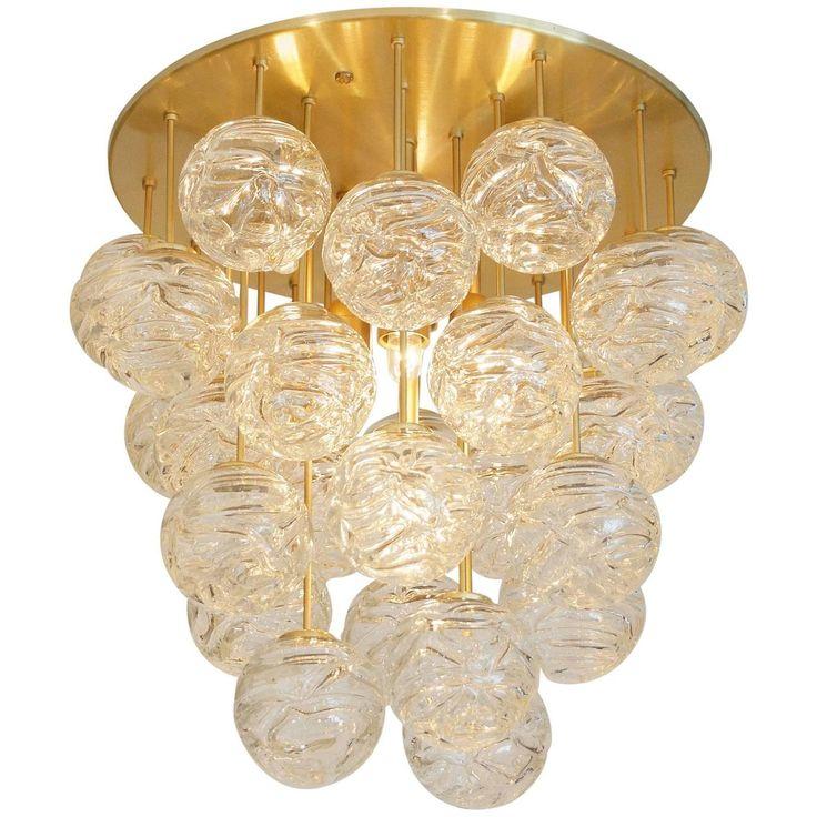 Large Doria Flush Mount with Spun Glass Globes