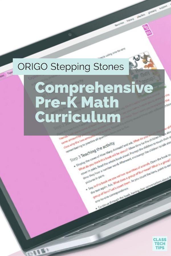Origo Stepping Stones Comprehensive Pre K Math Curriculum