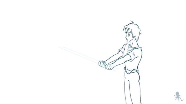 Biken - Training with his sword
