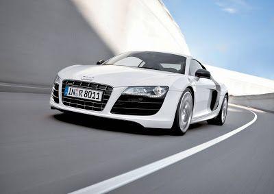 Audi R8 V10 front white color
