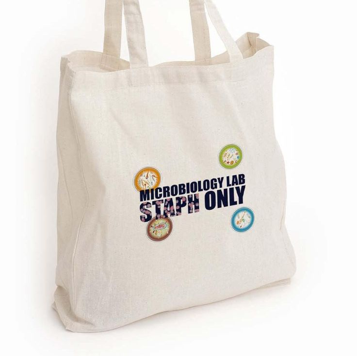 """Microbiology canvas tote, """"Microbiology lab staph only"""" Med lab tech gift"""