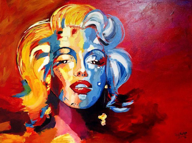 Marilyn. Voka inspiration. Acrílico. Pinturas modernas