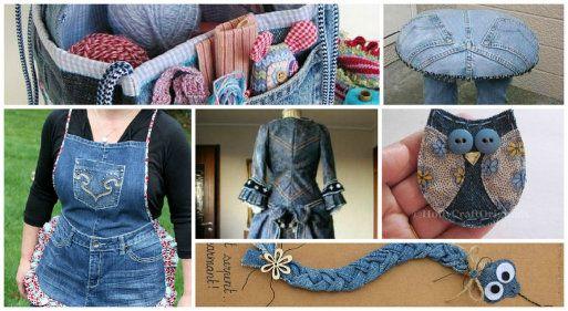 Todo tipo de ideas para reciclar de forma creativa jeans o - Todo tipo de manualidades para hacer ...