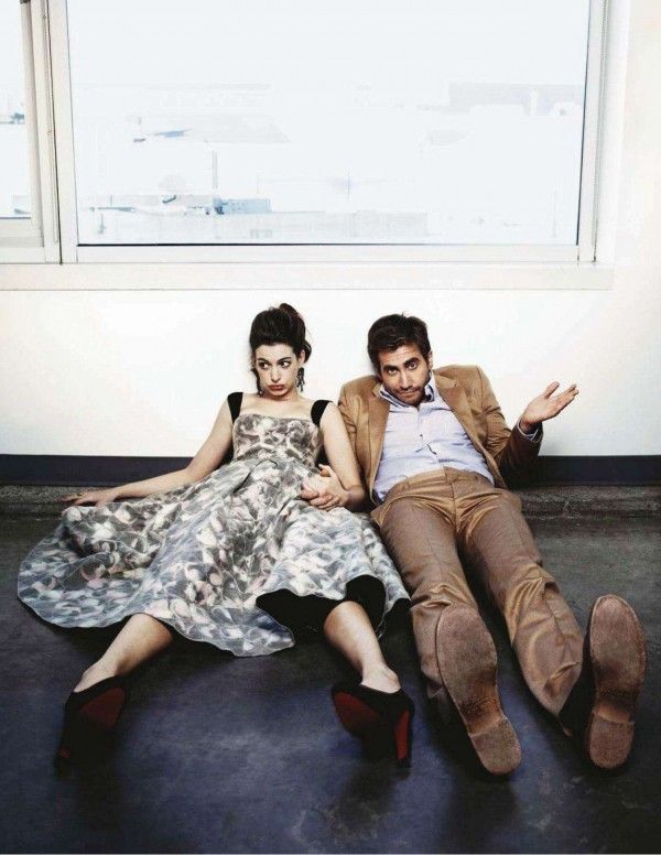 Anne Hathaway and Jake Gyllenhaal by James White for Entertainment Weekly, 2011