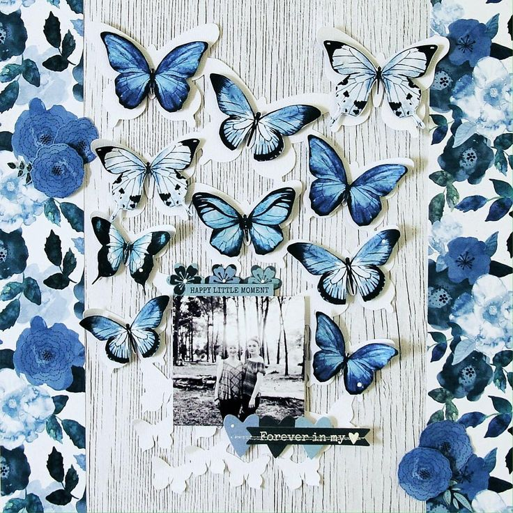 Good layout for my leftover butterflies from violet crush