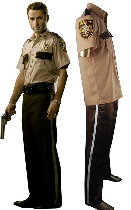 The Walking Dead Rick Grimes cosplay costume Sheriff Rick Grimes uniform.