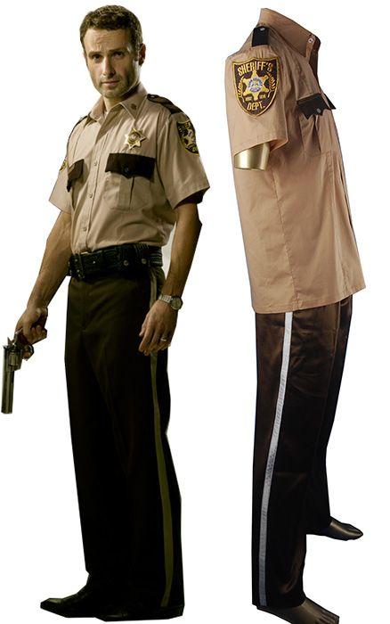 The Walking Dead Rick Grimes cosplay costume Sheriff Rick Grimes uniform. http://www.oscostume.com/the-walking-dead-rick-grimes-sheriff-cosplay-costume-uniform-for-sale/