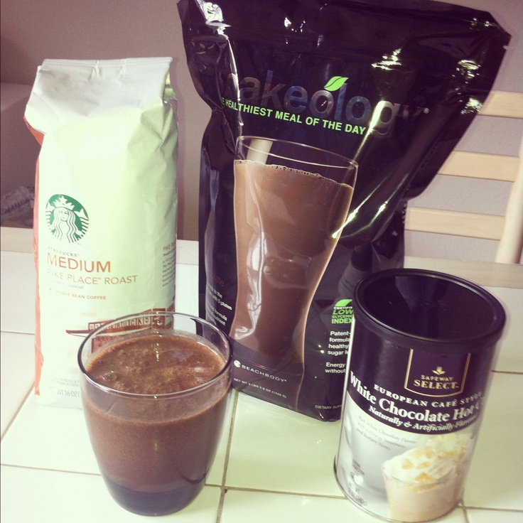 Zebra Mocha Chiller - YUM!  1 scoop Shakeology  1 cup cold coffee (I make mine extra strong!)  1 Tbsp. White Chocolate Hot Cocoa powder    Blend! This is a delicious, VERY nutritious, (and more affordable!) alternative to a fattening, sugary, and caloric frappucinno in the morning!  Only 210 calories too!  *You can also use milk/almond milk instead of water to increase richness!    myshakeology.com/turbofitlaura